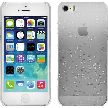 Hardcase für Apple iPhone 5 / 5s / SE Waterdrops weiß