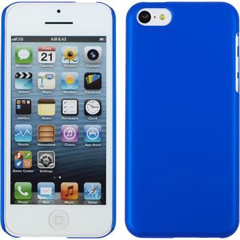 Hardcase iPhone 5c gummiert blau + 2 Schutzfolien