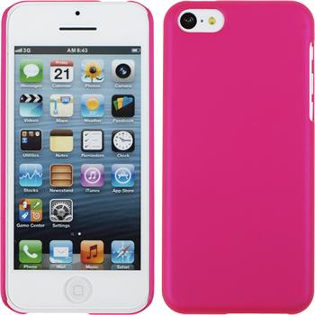 Hardcase for Apple iPhone 5c rubberized hot pink