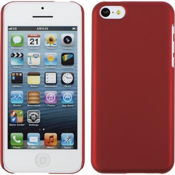 Hardcase iPhone 5c gummiert rot