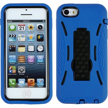 Hardcase iPhone 5c ShockProof blau + 2 Schutzfolien