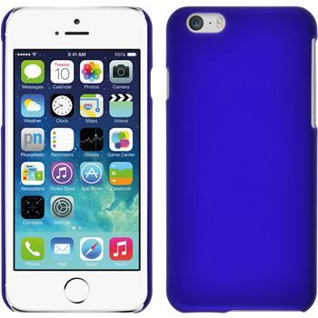 Hardcase für Apple iPhone 6s / 6 gummiert blau