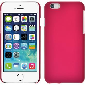 Hardcase für Apple iPhone 6s / 6 gummiert pink