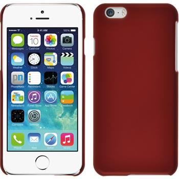 Hardcase iPhone 6s / 6 gummiert rot