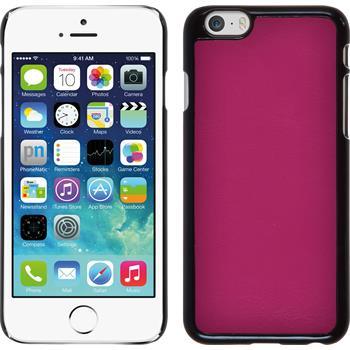 Hardcase iPhone 6s / 6 Lederoptik pink