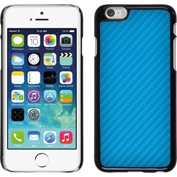 Hardcase iPhone 6s / 6 Carbonoptik blau