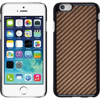 Hardcase für Apple iPhone 6s / 6 Carbonoptik bronze