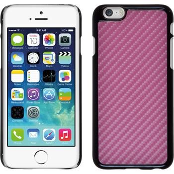 Hardcase iPhone 6s / 6 Carbonoptik pink