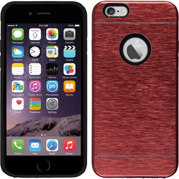Hardcase iPhone 6s / 6 Metallic rot + 2 Schutzfolien