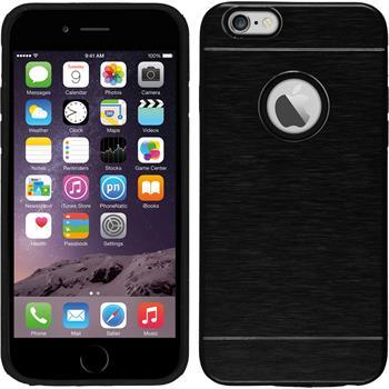 Hardcase für Apple iPhone 6s / 6 Metallic schwarz