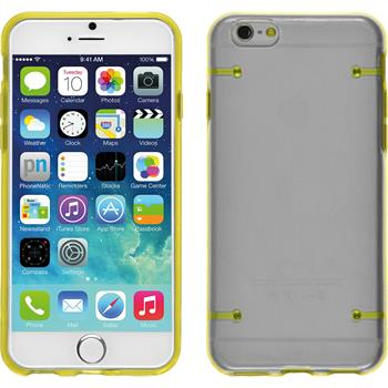 Hardcase iPhone 6s / 6 transparent gelb + 2 Schutzfolien