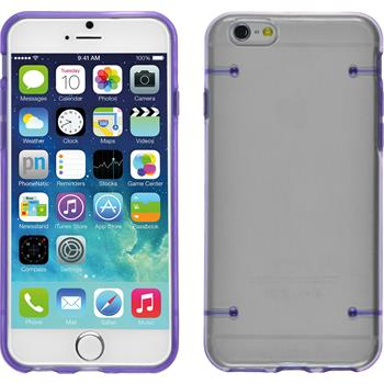 Hardcase iPhone 6s / 6 transparent lila + 2 Schutzfolien