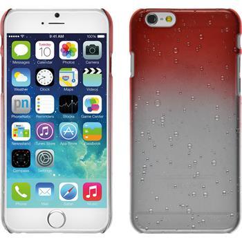 Hardcase iPhone 6s / 6 Waterdrops rot + 2 Schutzfolien