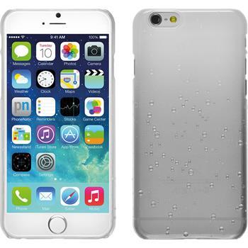 Hardcase iPhone 6s / 6 Waterdrops weiß + 2 Schutzfolien