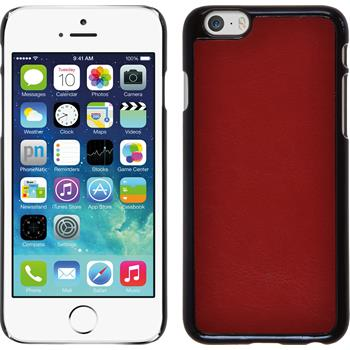 Hardcase für Apple iPhone 6s / 6 Lederoptik rot