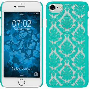 Hardcase iPhone 7 / 8 Damask grün + 2 Schutzfolien