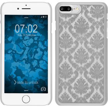 Hardcase iPhone 7 Plus / 8 Plus Damask silber + 2 Schutzfolien