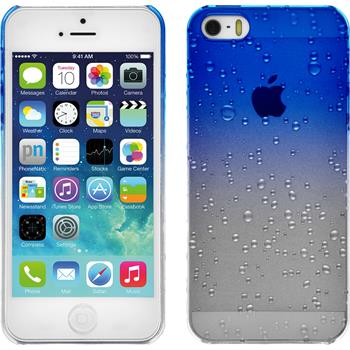 Hardcase iPhone SE Waterdrops blau