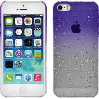 Hardcase iPhone SE Waterdrops lila