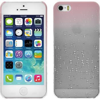 Hardcase für Apple iPhone SE Waterdrops rosa