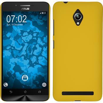 Hardcase für Asus Zenfone Go (ZC500TG) gummiert gelb