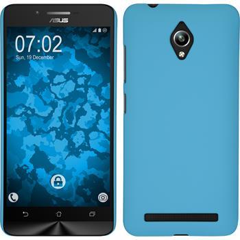 Hardcase Zenfone Go (ZC500TG) gummiert hellblau