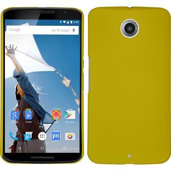 Hardcase für Google Nexus 6 gummiert gelb