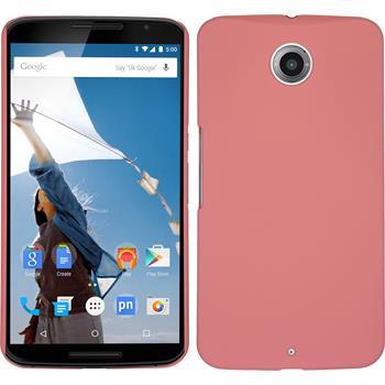Hardcase für Google Nexus 6 gummiert rosa