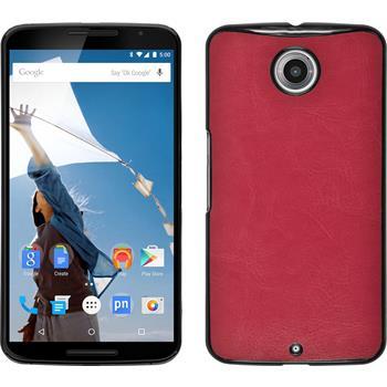 Hardcase Nexus 6 Lederoptik pink