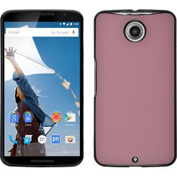 Hardcase Nexus 6 Lederoptik rosa