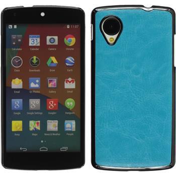 Hardcase Nexus 5 Lederoptik blau