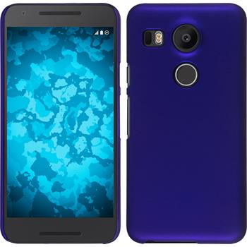 Hardcase Nexus 5X gummiert blau