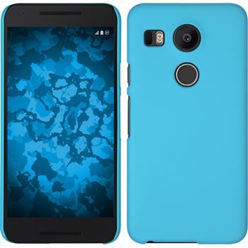 Hardcase Nexus 5X gummiert hellblau
