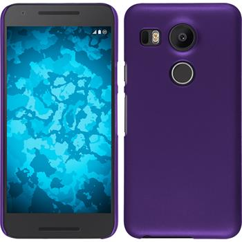 Hardcase Nexus 5X gummiert lila