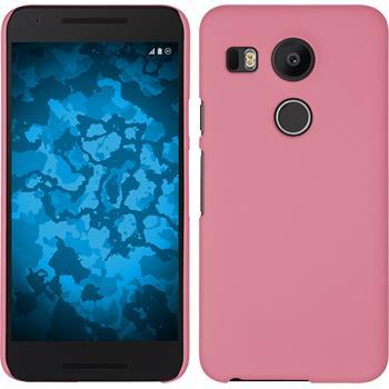 Hardcase Nexus 5X gummiert rosa