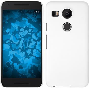 Hardcase Nexus 5X gummiert weiß