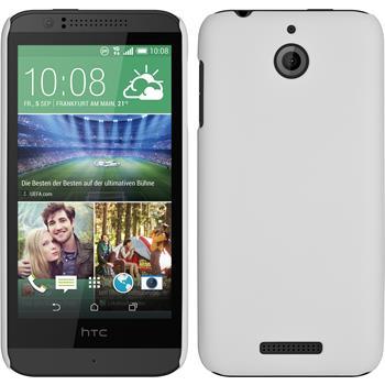 Hardcase für HTC Desire 510 gummiert weiß