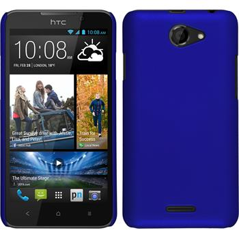 Hardcase for HTC Desire 516 rubberized blue
