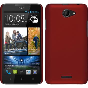 Hardcase für HTC Desire 516 gummiert rot