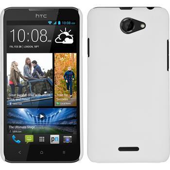 Hardcase für HTC Desire 516 gummiert weiß