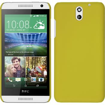 Hardcase for HTC Desire 610 rubberized yellow