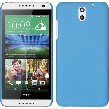 Hardcase für HTC Desire 610 gummiert hellblau