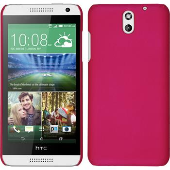Hardcase for HTC Desire 610 rubberized hot pink