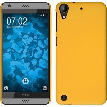 Hardcase für HTC Desire 630 gummiert gelb