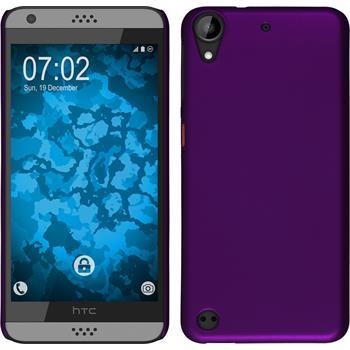Hardcase für HTC Desire 630 gummiert lila