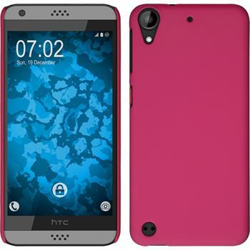 Hardcase Desire 630 gummiert pink + 2 Schutzfolien