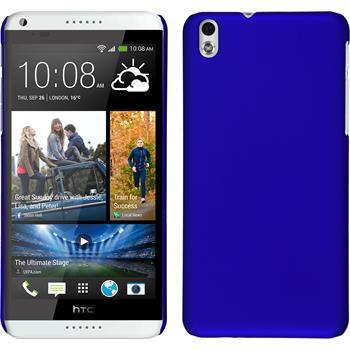 Hardcase für HTC Desire 816 gummiert blau
