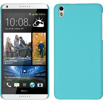 Hardcase for HTC Desire 816 rubberized light blue