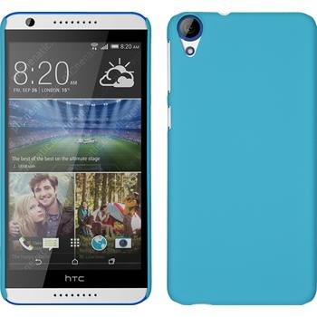 Hardcase für HTC Desire 820 gummiert hellblau