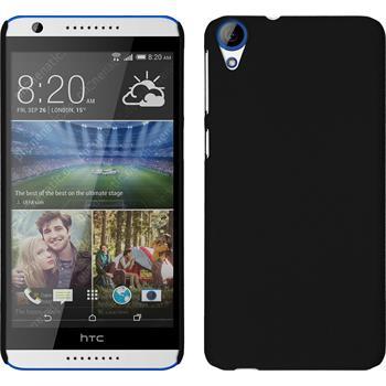 Hardcase für HTC Desire 820 gummiert schwarz
